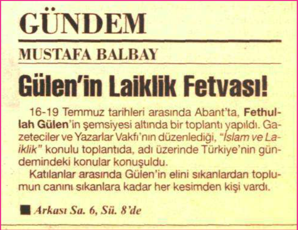 abant konsili ağustos 1998