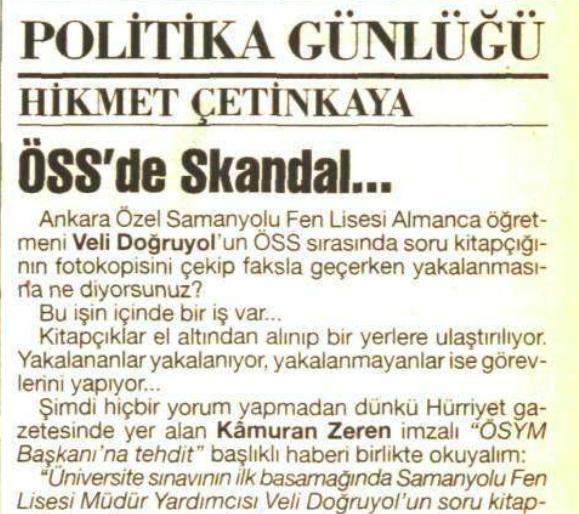 Öss de skandal 10 nisan 1996