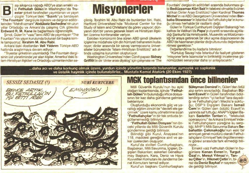 misyonerlik 22 haziran 1999